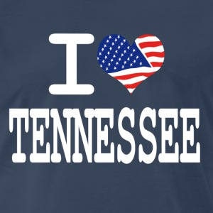 i love tennessee - white T-Shirts - Men's Premium T-Shirt