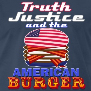 Truth Justice and the American Burger - Dark Tee - Men's Premium T-Shirt