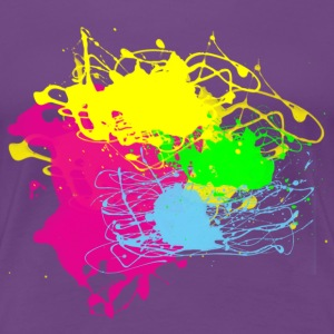 Colors Paint Splatter - Unisex Graffiti Graphic Design - Multicolor  - Women's Premium T-Shirt