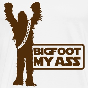 Bigfoot, My Ass (Brown) - Men's - Men's Premium T-Shirt