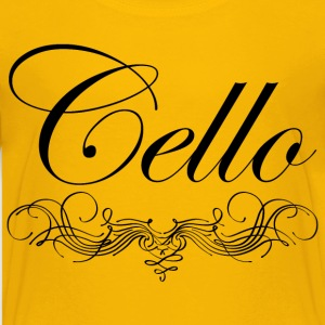 Cello Script Kids' Shirts - Kids' Premium T-Shirt