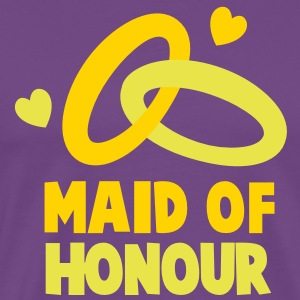MAID OF HONOUR with love hearts T-Shirts - Men's Premium T-Shirt