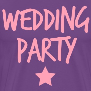 wedding party new funky and with a star T-Shirts - Men's Premium T-Shirt