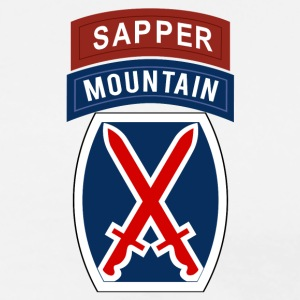 10th Mountain Sapper T-Shirts - Men's Premium T-Shirt