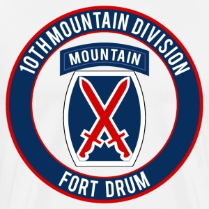 10th Mountain Ft Drum T-Shirts - Men's Premium T-Shirt
