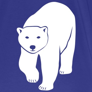 polar bear ice black white penguin knut climate change stop global warming T-Shirts - Men's Premium T-Shirt