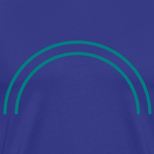 two_half_circle_lines T-Shirts - Men's Premium T-Shirt