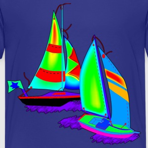 Children art Sailboats - Kids' Premium T-Shirt