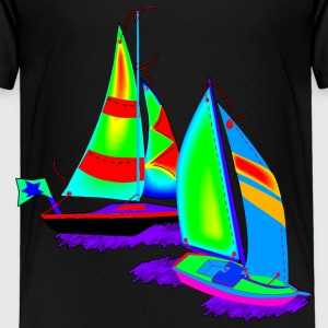 Children Art Sailboats - Toddler Premium T-Shirt