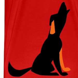 howling dog T-Shirts - Men's Premium T-Shirt