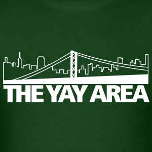THE YAY AREA - San Francisco - California - golden gate bridge - Men's T-Shirt
