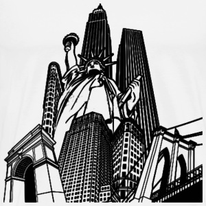 White New York T-Shirt - Men's Premium T-Shirt