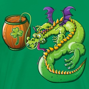 Drunk St Patrick's Day Dragon T-Shirts - Men's Premium T-Shirt