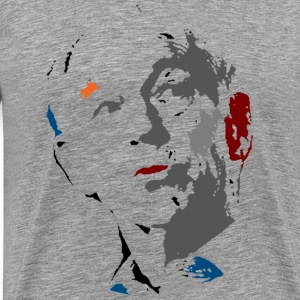 ron paul sketch grey - Men's Premium T-Shirt