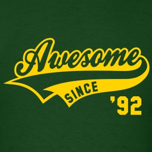 Awesome SINCE 1992 - Birthday Anniversaire T-Shirt YG - Men's T-Shirt