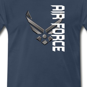 Custom Air Force Logo T-Shirts - Men's Premium T-Shirt