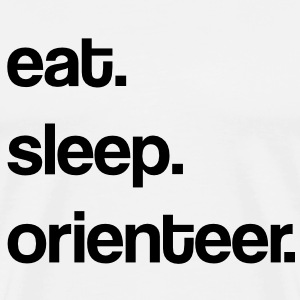 eat. sleep. orienteer. T-Shirts - Men's Premium T-Shirt