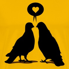 Love saying Doves - Two Valentine Birds 2c T-Shirts