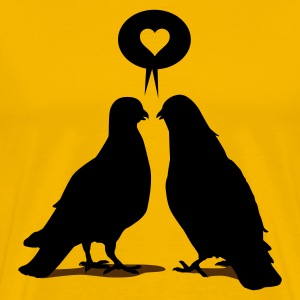 Love saying Doves - Two Valentine Birds 2c T-Shirts - Men's Premium T-Shirt