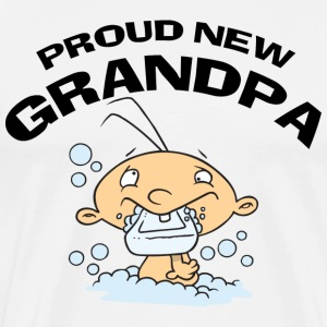 Proud New Grandpa T-Shirt - Men's Premium T-Shirt