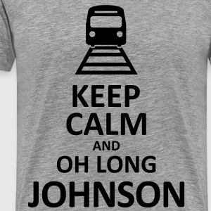 Keep Calm and Oh Long Johnson (Black) - Men's - Men's Premium T-Shirt