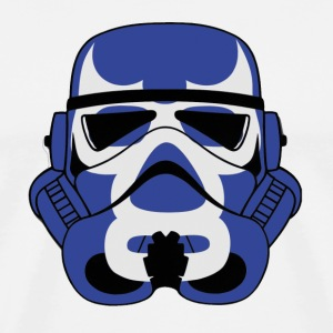 Blue Demon Trooper Mask - Men's Premium T-Shirt