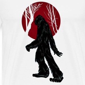 Sasquatch Taking a Stroll in the Woods - Men's Premium T-Shirt