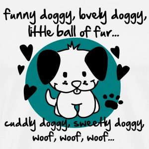 funny doggy, lovely doggy, little ball of fur T-Shirts - Men's Premium T-Shirt