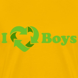 I love Boys - Recycle Heart (dd print) T-Shirts - Men's Premium T-Shirt
