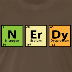 Periodic Table Nerdy T-Shirts - Men's Premium T-Shirt