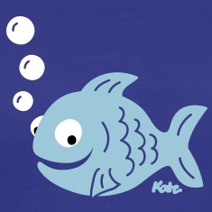 Funny Fish with Bubbles T-Shirts