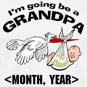 Personalized I'm Going To Be A Grandpa T-Shirts - Men's Premium T-Shirt