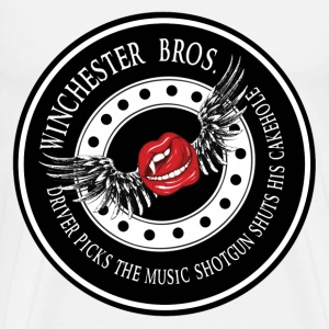 Winchester Bros Driver picks the music shotgun shu T-Shirts - Men's Premium T-Shirt