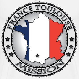 France Toulouse LDS Mission Flag - Called to Serve - Men's Premium T-Shirt