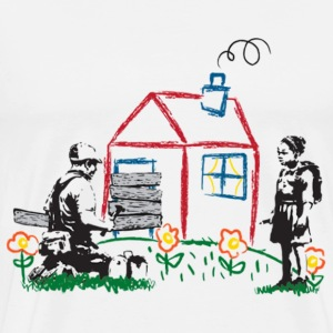 Banksy Crayon Foreclosure - Men's Premium T-Shirt