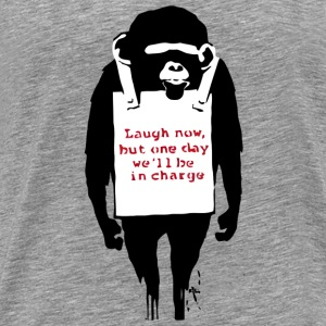 Banksy Laugh Now Monkey T-Shirts - Men's Premium T-Shirt