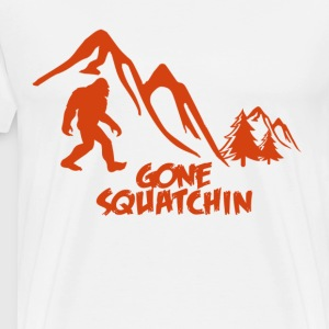 gone squatchin woodbooger - Men's Premium T-Shirt