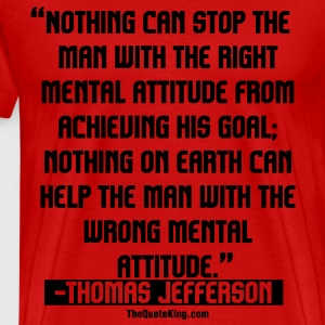 Thomas Jefferson on Success - Men's Premium T-Shirt