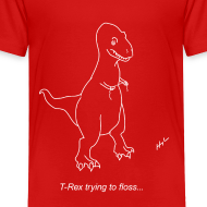 Design ~ T-Rex Flossing White Design (Toddler)