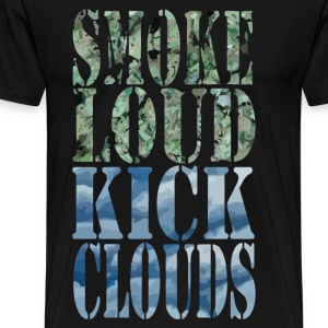 Smoke Loud Kick Clouds T-Shirts - Men's Premium T-Shirt