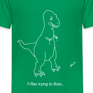 Design ~ T-Rex Flossing White Design (Kids)