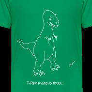 Design ~ T-Rex Flossing White Design (Kids)