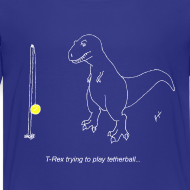 Design ~ T-Rex Tetherball White Design (Kids)