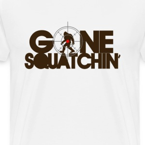 Gone Squatchin' - Brown - Men's Premium T-Shirt