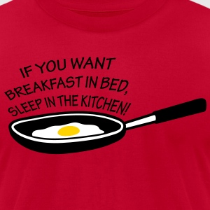 breakfast_in_bed T-Shirts - Men's T-Shirt by American Apparel