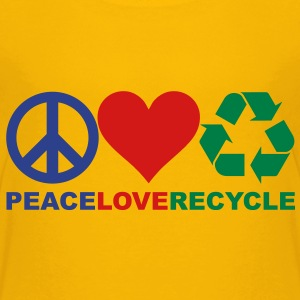 Peace Love Recycle Shirt - Kids' Premium T-Shirt