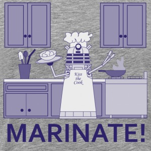 Marinate! in monochrome (blue) T-Shirts - Men's Premium T-Shirt