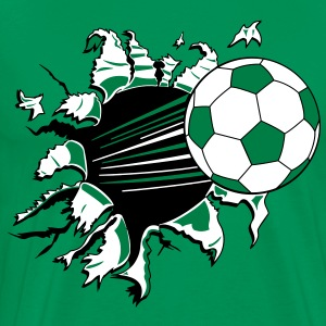 Soccer Ball Through Shirt - Men's Premium T-Shirt