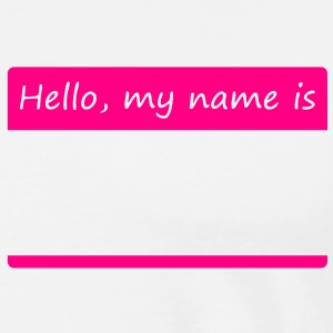 Hello, my name is - Men's Premium T-Shirt