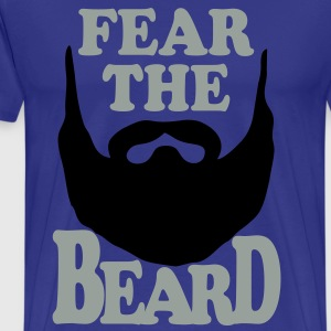 Fear the Beard Vector T-Shirt - Men's Premium T-Shirt